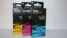 3 COLOUR CANON PIXMA MP550 MP560 MX860 MX870 COMPATIBLE INK CARTRIDGES