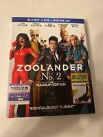 Zoolander 2 w/ Slipcover (Bluray/DVD, 2016) [BUY 2 GET 1]