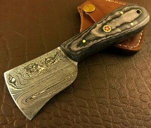 Handmade Damascus Steel Leather Cutter-Pattern Leather Cutter Tool-LC235