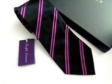 NEW WITH TAGS RALPH LAUREN PURPLE LABEL SILK TIE. HAND MADE AND FOLDED IN ITALY.
