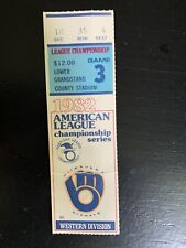 1982 Vintage Milwaukee Brewers ALCS Game 3 Vs California Angels Ticket Stub