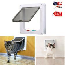 4-Way Lockable Pet Cat Kitty Safe Pass Interior Flap Door Gate Small Medium Hot