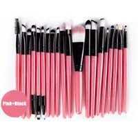20PCS Make Up Brushes Eyeshadow Eyeliner Lip Powder Foundation Blusher Tool Set