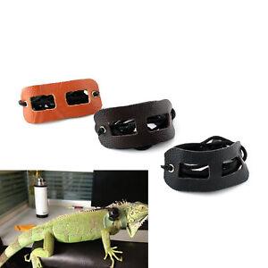 Harness Lizard Reptile Leash Adjustable Pet Small Animal Genuine Leather