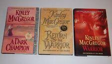 A DARK CHAMPION RETURN OF THE WARRIOR Kinley MacGregor BROTHERHOOD 3 Hardcovers