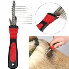 Professional Comb Dematting Rake Pet Shedding Dog Cat Hair Grooming Brush