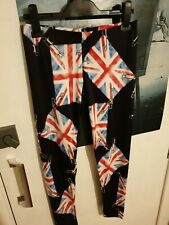 Insanity Leggings, British Flags, safety pins Made in England
