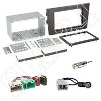 Volvo XC90 (C Facelift) ab05/2006 Doppel 2-DIN Radio Blende+ISO+Antenne+Adapter