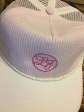 Lauren James Ladies Snapback Hat Pink Mesh back