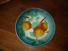BEL ASSIETTE PLATE ANCIENNE FRUIT BARBOTINE POMME en relief LUNEVILLE