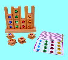 Legespiel Lernspiel Tieren & Juwelen Holzspielzeug Kindergarten Qualität 449-50