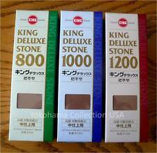 Set of 3 King 800/1000/1200 GRT Whetstone Sharpening Water stone/Made in Japan