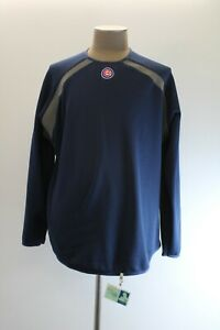 Majestic Chicago Cubs Mens Navy Blue Long Sleeve Sweatshirt Therma Base
