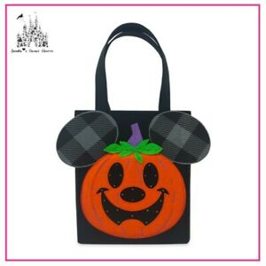 DISNEY MICKEY MOUSE HALLOWEEN JACK-O-LANTERN LIGHT-UP CANDY BAG NEW WITH TAG