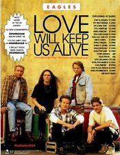 """Classic 1994 The Eagles """"Love Will Keep Us Alive"""" Song Release Trade Ad Reprint"""