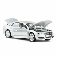 Audi A8 1:32 Model Car Metal Diecast Toy Vehicle Kids Collection Gift Silver