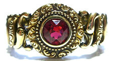 PITMAN KEELER THE AMERICAN QUEEN STERLING SILVER STRETCHY RED CRYSTAL BRACELET