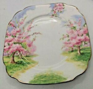 "Vintage Royal Albert Blossom Time Series Square Salad Plate 6 3/4""  (set of 4)"