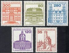 Germany 1977 (1982) Castles/Buildings/Architecture/Heritage/History 5v (n28600)