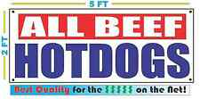 ALL BEEF HOTDOGS Banner Sign NEW XXL Size Best Quality for the $$$$ RW&B
