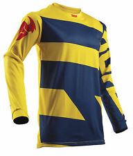 Thor Youth MX ATV Motocross Jersey S8Y Pulse Level Navy/Yellow Large