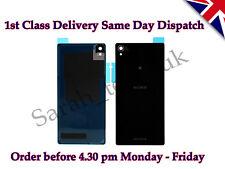 Nuevo Sony Xperia Z1 L39h Batería Trasera Cubierta Panel De Vidrio Trasero Con Adhesivo Negro
