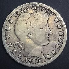 1908 O  New Orleans Barber  Quarter