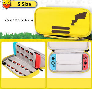 Pikachu Carrying Case For Nintendo Switch Console Joy-Con Zipper PU Leather Bag