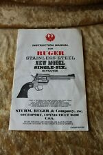 Instruction Manual for Ruger Stainless Steel New Model Single-Six Revolver