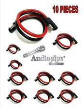 """10 Pieces 10 Gauge 12"""" Quick Disconnect Power Wire Cable Harness"""