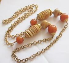 Amber Gold Vintage Costume Necklaces