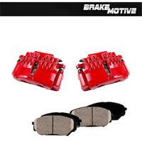 Chevy Camaro 89-92 F/&R Drill Slot Brake Rotors POSI QUIET Ceramic Pads