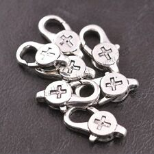 Wholesale Tibetan silver Cross Charms Lobster Clasps 23x12MM 3136