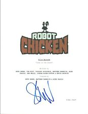 Seth Green Signed Autographed ROBOT CHICKEN  Pilot Episode Script COA VD