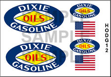 DIXIE OILS HO SCALE 1/87 LAYOUT DIORAMA MODEL TANKER BOXCAR TRUCK DECALS HODG12
