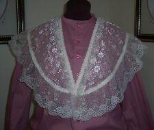 Civil War/Victorian/Sass Ladies Lace Bertha Fichu (off-white) #1