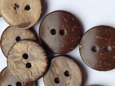Coconut buttons natural 15mm pack of 10