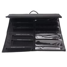 9xProfessional Hairdressing Comb Carbon Cutting Comb With Pouch for Hair Styling