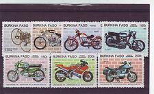 BURKINA FASO - SG766-772 MNH 1985 CENTENARY OF MOTOR CYCLES