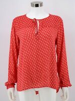 Gap Blouse Womens Size Medium Pink Floral Print Rayon Long Sleeve Top