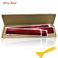 4PC Accessories 3D Carbon Fiber Red Car door Plate Door Sill Scuff Plate Kit