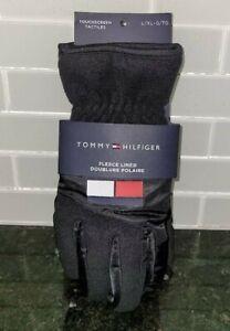 New Tommy Hilfiger Polar Fleece Lined Gloves Touchscreen  Men's Size L/XL $60+