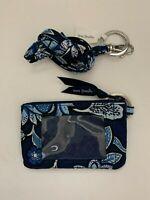 Vera Bradley Tropics Tapestry Zip ID Money Case & Matching Lanyard with Tags