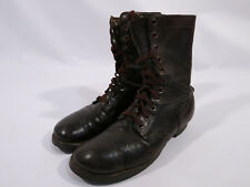 NAMED Original WW2 US Military Paratrooper Jump Combat Boots 9.5 D Brown Leather