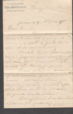 1900 letter M Wade & Son 12 Montgomery Street Johnstown NY to Frank