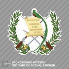 Guatemalan Coat Of Arms Sticker Decal Vinyl Guatemala Flag Gtm Gt