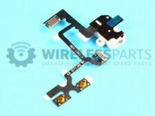 For iPhone 4 - Headphone Jack With Mute Switch And Volume Buttons - White - OEM