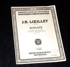 sonate en en Si min. harmonisée pour violon violoncelle piano 1954 J.B. Loeillet