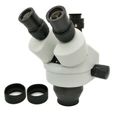 7X-45X Simul-focal Trinocular Zoom Stereo Microscope Head with 0.5X C-Mount Lens