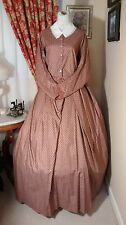Civil War Reenactment Ladies Day Dress Size 20 Rusty Red with Leaves
